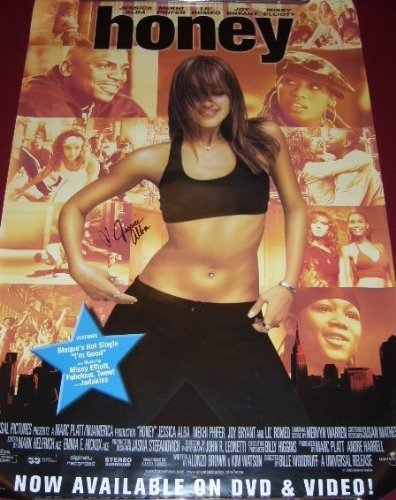 Jessica Alba Actress Honey Sexy Hand Signed Autographed 27x40 Movie Theatre Poster Loa