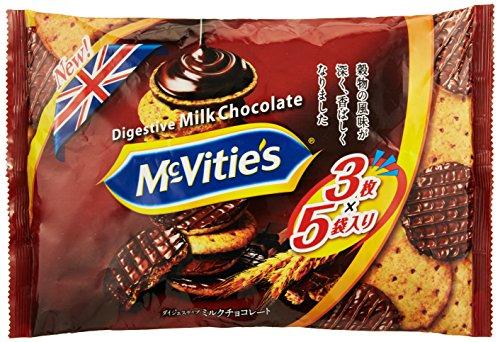 明治 マクビティミルクチョコレート袋 15枚