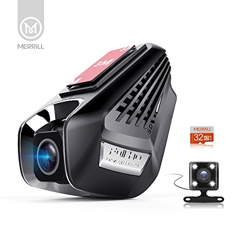 merrill dual dashcam videokamera f r auto fhd 1296p 170 dash kamera re cr3000s merrill. Black Bedroom Furniture Sets. Home Design Ideas