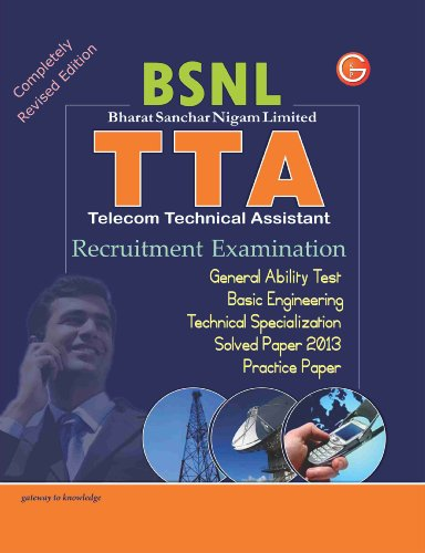 Study Guide TTA (BSNL) Recruitment Exam (Includes Practice Paper & Solved Paper 2013) (Old Edition)