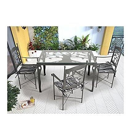Mesa de jardín Mairena - Grupo 1 - Azul, Mesa con medidas de 180x85x76 cm. de alto.