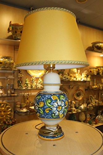 Lume con paralume in Ceramica Caltagirone artistica 57 cm