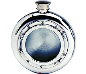 4oz Liquor Hip Flask Kidney Shape With Traditional Scottish Piper
