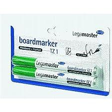 Legamaster marqueur pour tableau tZ 1-rechargeable-pointe 1,5/3 mm-vert - 2 sur carte blister pièces