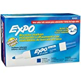 Expo 2 Low-Odor Dry Erase Markers, Bullet Tip, 12-Pack, Blue