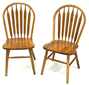 Solid Oak Windsor Chairs (Arrow Back)   Set Of 2, Fully Assembled   Chairs  Kitchen   P Z9lsL