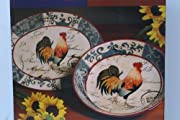 Lille rooster Serving Platter & Bowl Set by Certified Interenational Corp