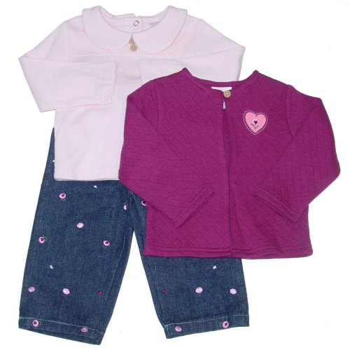 Infant Girls' Denim Outfit with Cardigan Sweater - Buy Infant Girls' Denim Outfit with Cardigan Sweater - Purchase Infant Girls' Denim Outfit with Cardigan Sweater (Healthtex, Healthtex Apparel, Healthtex Toddler Girls Apparel, Apparel, Departments, Kids & Baby, Infants & Toddlers, Girls, Pants)