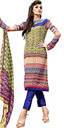 Desifab Women's Georgette Unstitched Dress Material (BSM03_Multicolor)