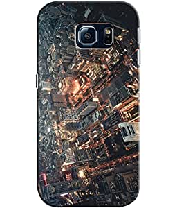 EU4IA City Picture Pattern MATTE FINISH 3D Back Cover Case For SAMSUNG GALAXY S6 EDGE - D382