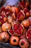 Poster 50 x 80 cm: Pomegranates and pulp from the Charminar Street Market in Hyderabad by Greg Elms / Lonely Planet Images / Getty Images - high quality art print, new art poster