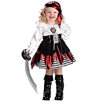 LE-super Halloween Xmas Cosplay Cutie Child Costume Pirate Lass Costume ,Toddler