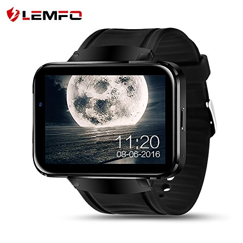 LEMFO-LEM4-Smart-Watch-Cell-Phone-with-Android-44-OS-MTK6572-Dual-Core-3G-WIFI-GPS-22-inch-Screen-Smartwatch-for-Android-BLACK