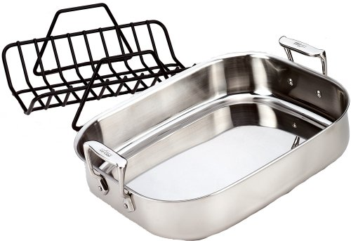 All-Clad Stainless Petite Roti Pan with Roasting Rack (Roaster Pan For Small Oven compare prices)