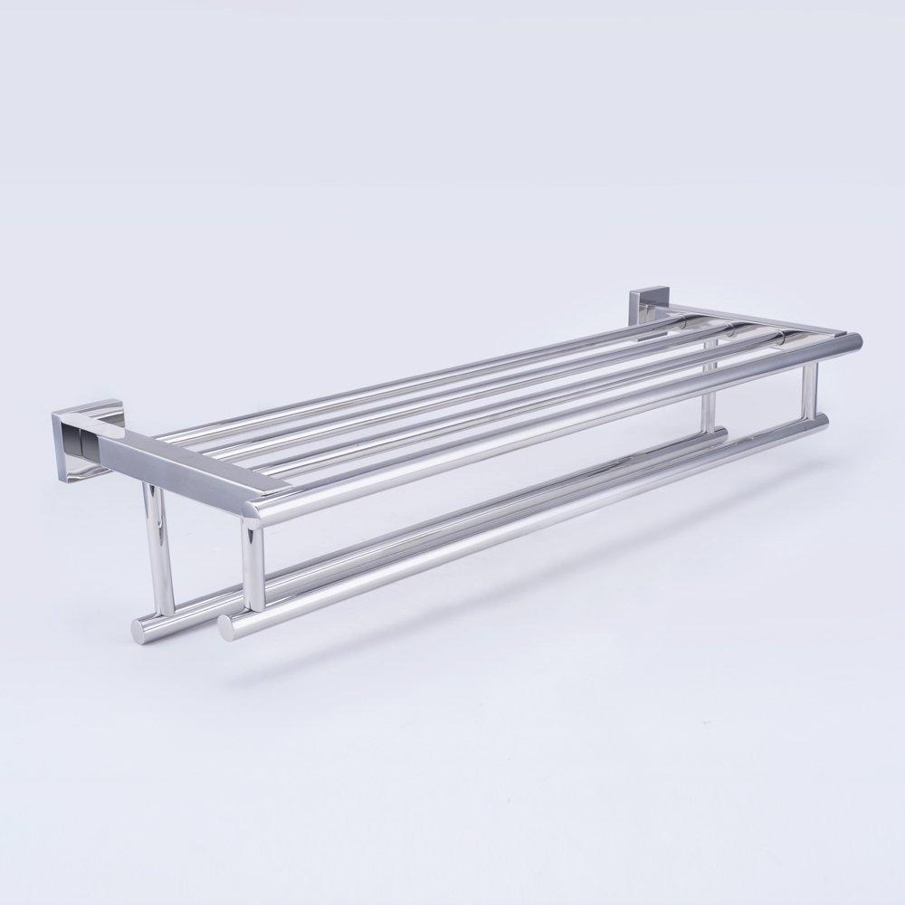 kes 24 inch stainless steel bathroom shelves towel rack. Black Bedroom Furniture Sets. Home Design Ideas