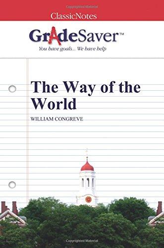 william congreve the way of the world summary pdf