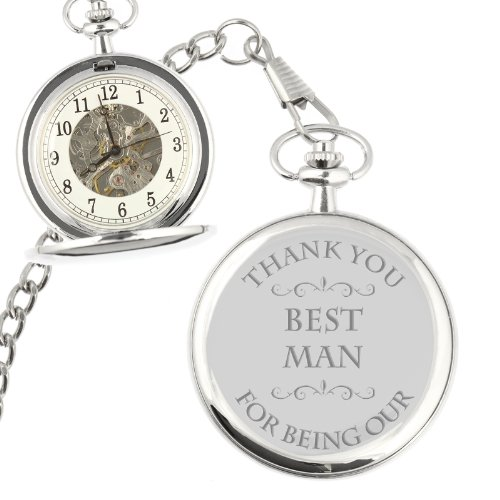Thank You For Being Our Best Man Mechanical Pocket Watch (can be personalised)