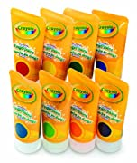 Crayola Fingerpaints Bold and Secondary Colors, 4 fl oz, 8-Count.
