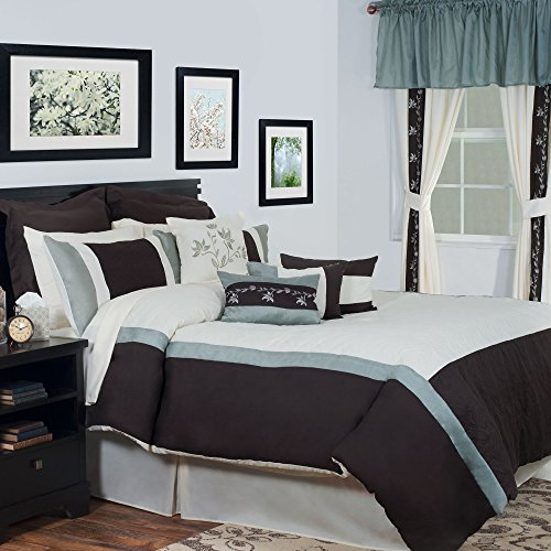 Bedford Home 24-Piece Annette Bed-in-a-Bag Bedroom Set, Queen