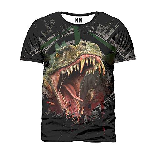 RAPTOR - Dinosaur T-Shirt Man - Velociraptor T-Rex T-Shirt Jurassic Park Dino Crisis