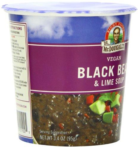 Black bean lime soup