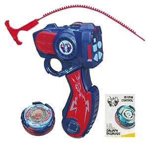 Hasbro Beyblade XTS Radio control Galaxy Pegasus - Lanzador radio control para peonzas Beyblade, color azul y rojo