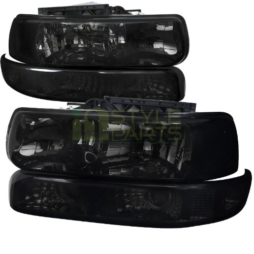 Chevy Chevrolet Silverado Lt Ltz Ls Smoked Headlights, Bumper Lights (99 Chevy 1500 Headlights compare prices)
