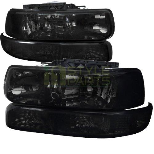 Chevy Chevrolet Silverado Lt Ltz Ls Smoked Headlights, Bumper Lights (Headlights 99 Chevy compare prices)