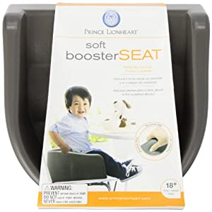 Prince Lionheart Soft Booster Seat, Charcoal Sierra Brown