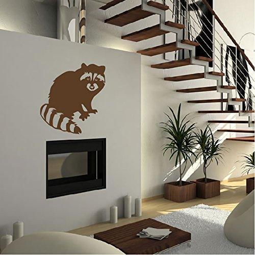 raccoon-perfil-etiqueta-de-la-pared-tatuajes-de-pared-animal-arte-disponible-en-5-tamanos-y-25-color