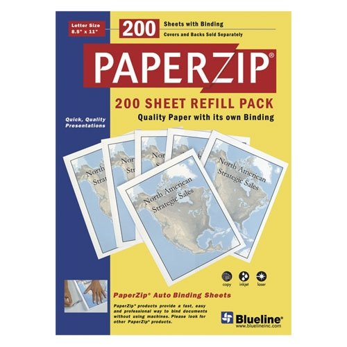 PaperZip Binding System Refill Pack, 200 Sheets with Binding - Buy PaperZip Binding System Refill Pack, 200 Sheets with Binding - Purchase PaperZip Binding System Refill Pack, 200 Sheets with Binding (NATIONAL BRAND, Office Products, Categories, Office & School Supplies, Binders & Binding Systems, Report Covers)