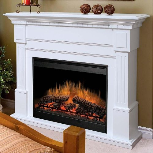 Dimplex Essex White Electric Fireplace Mantel Package - Gds30-1086W