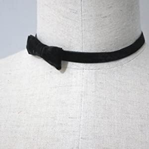 """Jewelry 4 Lady Velvet Choker Necklace with Bow Adjustable(12"""" to 14"""")"""
