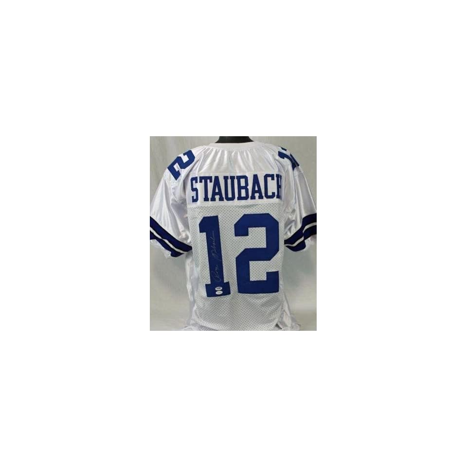 pretty nice 0a008 c1c99 Signed Roger Staubach Jersey Authentic Autographed NFL ...
