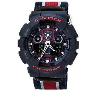 G-Shock GA-100MC Cloth Band Classic Series Men's Luxury Watch - Blue/Grey / One Size