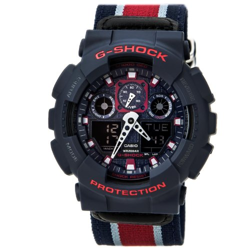 G-Shock GA-100MC Cloth Band Classic Series Men's Luxury Watch – Blue/Grey / One Size