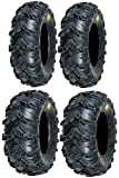 Full set of Sedona Mud Rebel 25x8-12 and 25x10-12 ATV Tires (4)