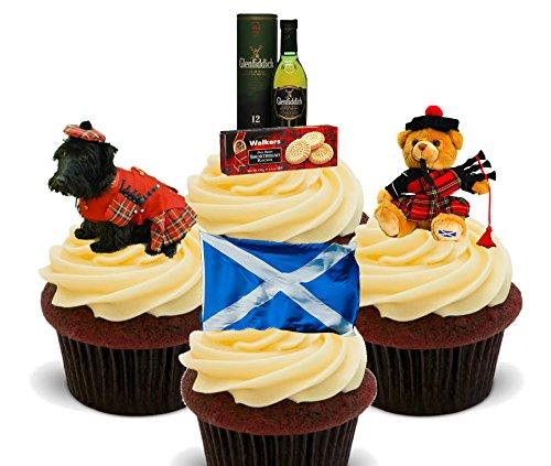 Écosse Fun Pack, décorations à gâteau comestibles pour cupcakes-Col Montant, Pack of 12