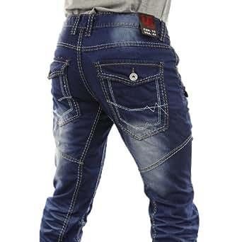 k860 jeans mit dicken n hten f r herren urban rags k860. Black Bedroom Furniture Sets. Home Design Ideas