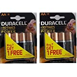 Duracell Alkaline Battery AA8 Pack Of 2 (8 Cell)