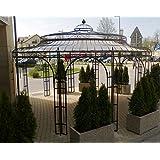 Stabiler Gartenpavillon Ø 550cm aus Metall, Farbe + verzinkt Pavillon