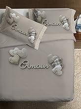 Ipersan Amour Fine-Art Parure Copripiumino Fotografico, Piazzato, Cotone, Beige, Matrimoniale