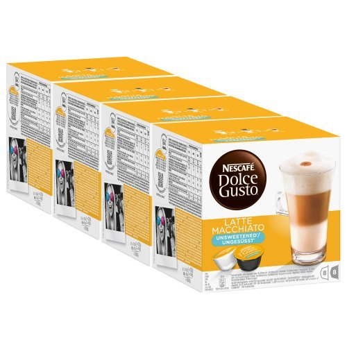 Nescafé Dolce Gusto Latte Macchiato Unsweetened, Pack Of 4, 4 X 16 Capsules (32 Servings) front-867737
