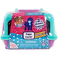 New 2016 Puppy In My Pocket Series 2 Mystery Puppy Carrier Blue & Purple (Includes 2 Flocked Mystery Puppies In...