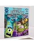 Amscan BB671998 Monsters University Wall Decorating Kit