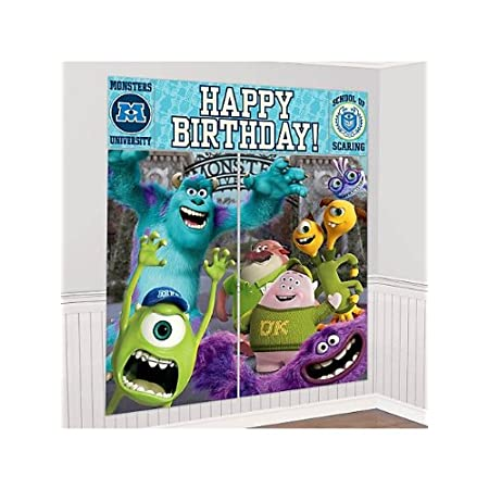 2 Small Posters, 10 1/4in x 16in 2 Large Posters, 32 1/2in x 59in Happy Birthday Banner, 44 1/2in x 16in.