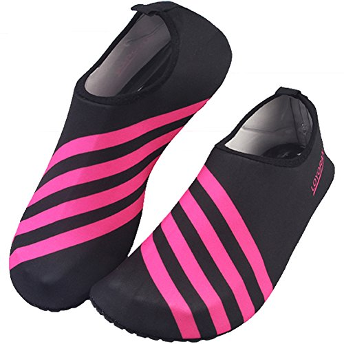 Unisex Barefoot Water Skin Shoes for Beach Swim Surf Yoga Exercise Red Medium