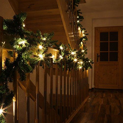 LED Ghirlanda abete LEDTGL1 10 Metri decorazione natalizie per casa