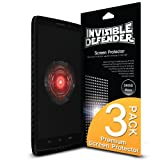 Droid Maxx Screen Protector - Invisible Defender [3 Pack/MAX HD CLARITY][Lifetime Warranty] Perfect Touch Precision High Definition (HD) Clarity Film for Motorola Droid Maxx