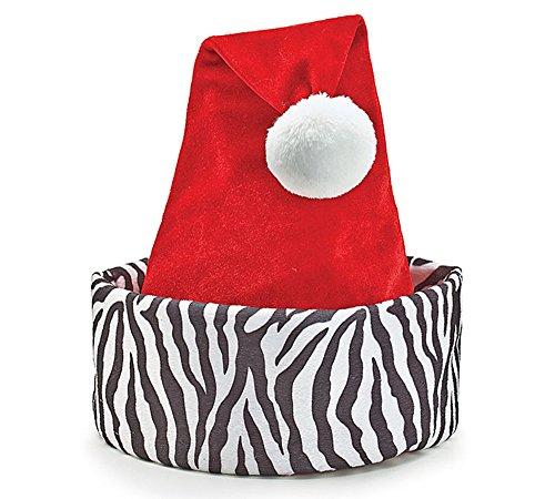 Zebra Print Santa Christmas Hat (Coupon Spirit Halloween)
